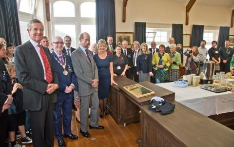 HRH The duke of Kent Visit to Camborne Library