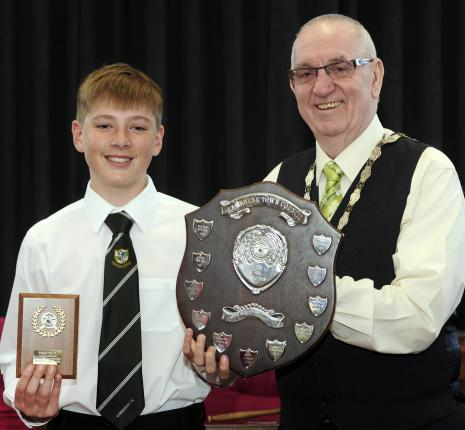 Winner of the Sid Goldophin Award Alfie Macdonald