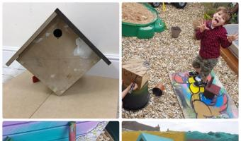 Examples of Bird Boxes and Bug Hotels